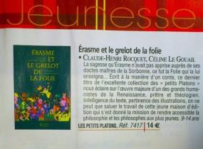 Érasme et le Grelot de la Folie - sélection La Procure Noël 2012