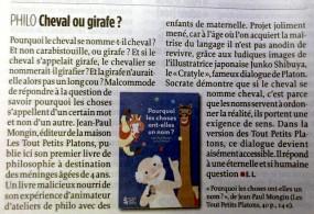 """""""Les tout petits Platons"""" dans Le Point !"""