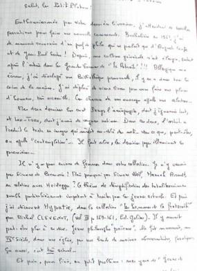 Lettre de Madame S. aux petits Platons
